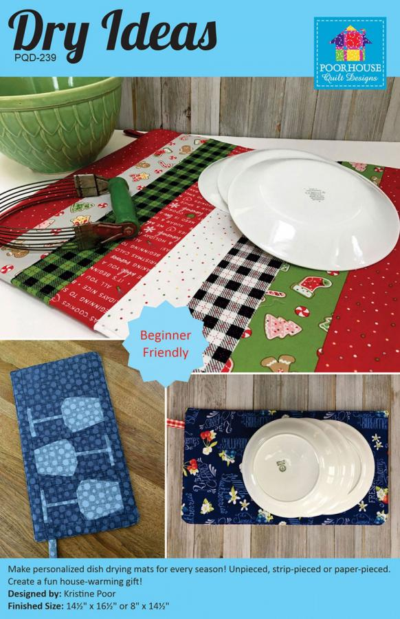 Dry Ideas Table Runner sewing pattern by Poorhouse Quilt Designs