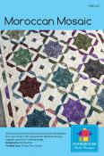 Moroccan Mosiac quilt sewing pattern by Poorhouse Quilt Designs