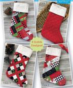 Santa Socks sewing pattern by Poorhouse Quilt Designs 2