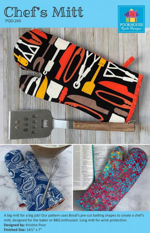 Chef's Mitt sewing pattern by Poorhouse Quilt Designs