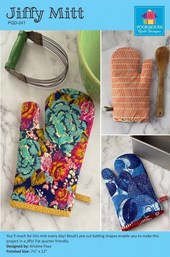 Jiffy Mitt sewing pattern by Poorhouse Quilt Designs