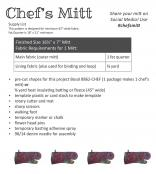 Chef's Mitt sewing pattern by Poorhouse Quilt Designs 1