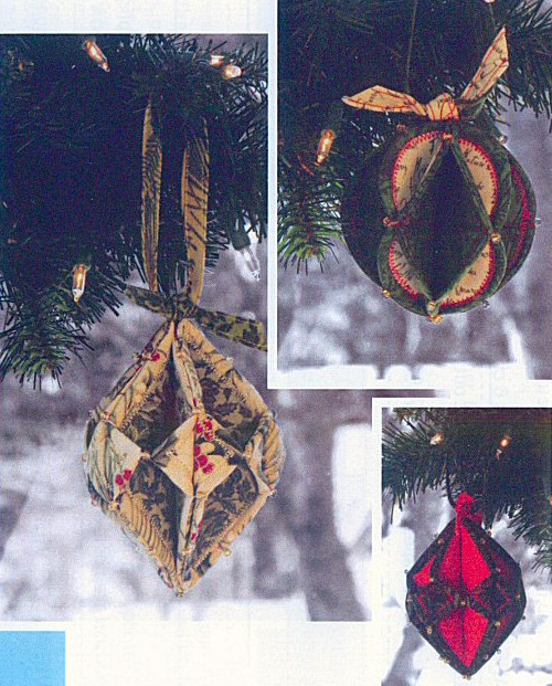 Fold N Stitch Holiday Ornaments Sewing Pattern By Poorhouse Quilt