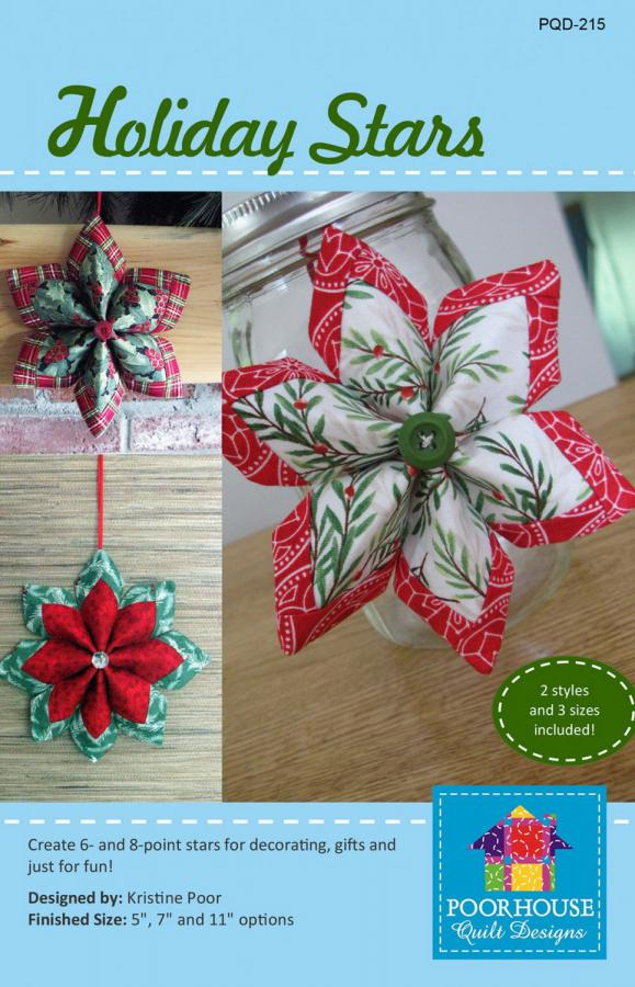 Holiday Stars sewing pattern by Poorhouse Quilt Designs