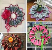 Fold 'N Stitch Wreath sewing pattern by Poorhouse Quilt Designs 3