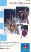 Fold 'N Stitch Holiday Ornaments sewing pattern by Poorhouse Quilt Designs