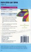 Fold 'N Stitch Leaf topper sewing pattern by Poorhouse Quilt Designs 1
