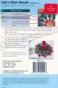 Fold 'N Stitch Wreath sewing pattern by Poorhouse Quilt Designs 2