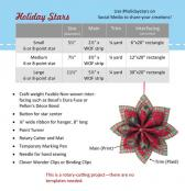 Holiday Stars sewing pattern by Poorhouse Quilt Designs 2
