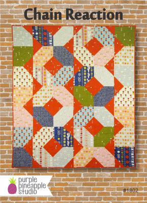 Chain Reaction quilt sewing pattern Card from Purple Pineapple Studio