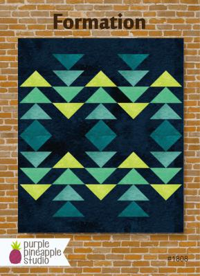 Formation quilt sewing pattern Card from Purple Pineapple Studio