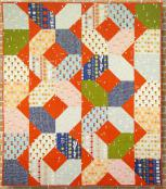 Chain Reaction quilt sewing pattern Card from Purple Pineapple Studio 1