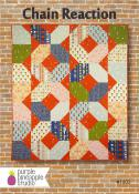 CLOSEOUT...Chain Reaction quilt sewing pattern Card from Purple Pineapple Studio