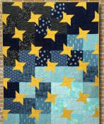 Starry Night quilt sewing pattern Card from Purple Pineapple Studio 1