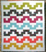 Tetris Tumble quilt sewing pattern Card from Purple Pineapple Studio 1