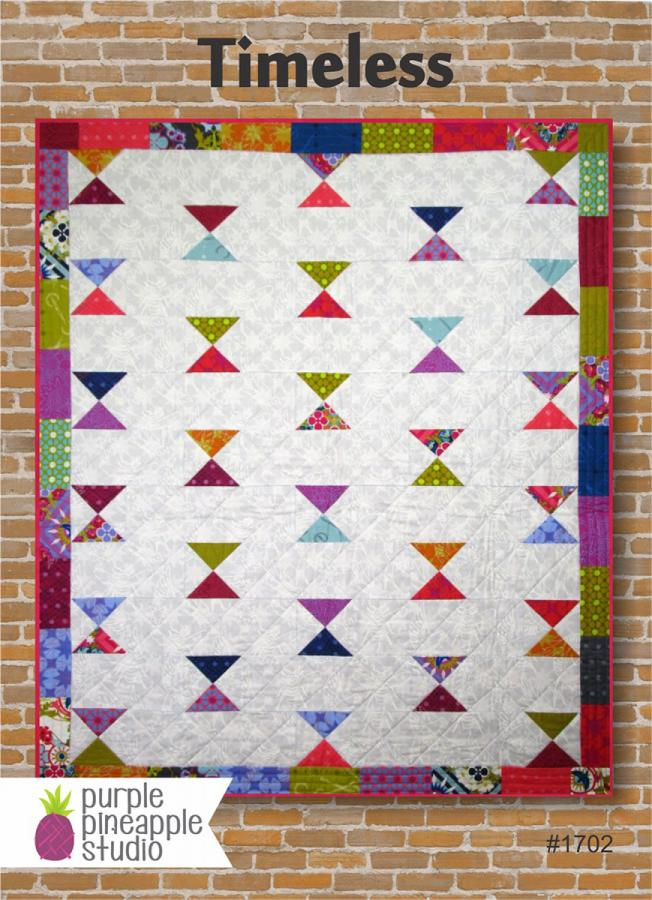 Timeless quilt sewing pattern Card from Purple Pineapple Studio