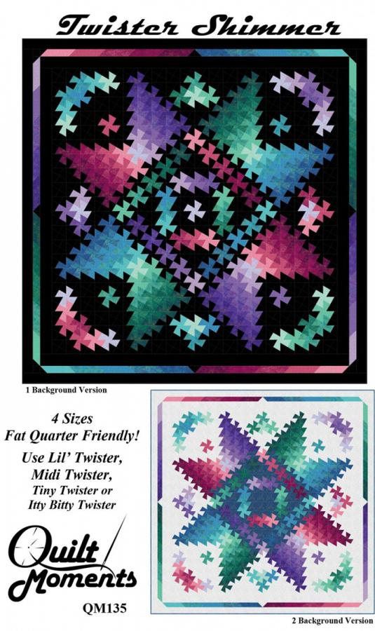 Twister Shimmer quilt sewing pattern from Quilt Moments