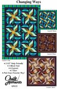 Changing Ways quilt sewing pattern from Quilt Moments