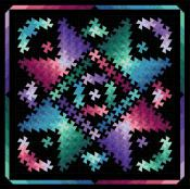 Twister Shimmer quilt sewing pattern from Quilt Moments 2