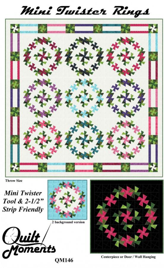 Mini Twister Rings quilt sewing pattern from Quilt Moments