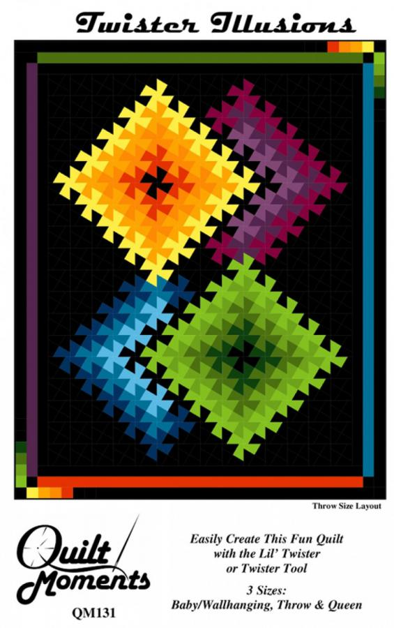 Twister Illusions quilt sewing pattern from Quilt Moments