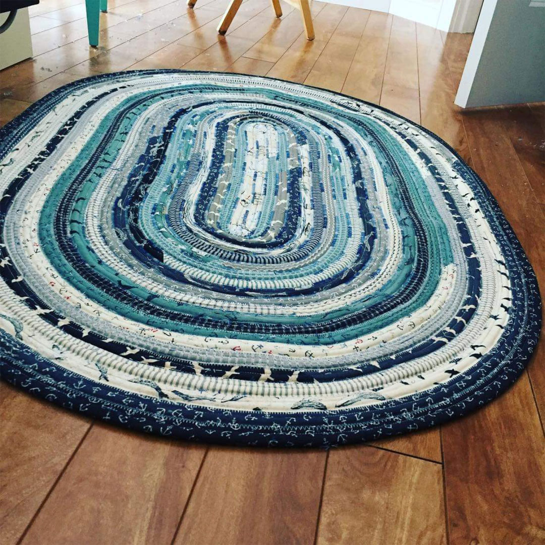 INVENTORY REDUCTION...Jelly Roll Rug Sewing Pattern From