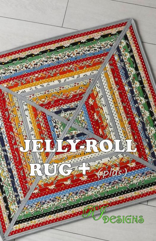 Jelly-Roll-Rug-Plus-sewing-pattern-from-RJ-designs-front