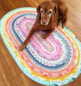 Jelly Roll Rug sewing pattern from RJ Designs 4