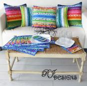 INVENTORY REDUCTION...Pillows and Placemats Jelly Roll sewing pattern from RJ Designs 2