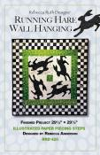 Running Hare Wall Hanging quilt sewing pattern Rebecca Ruth Designs