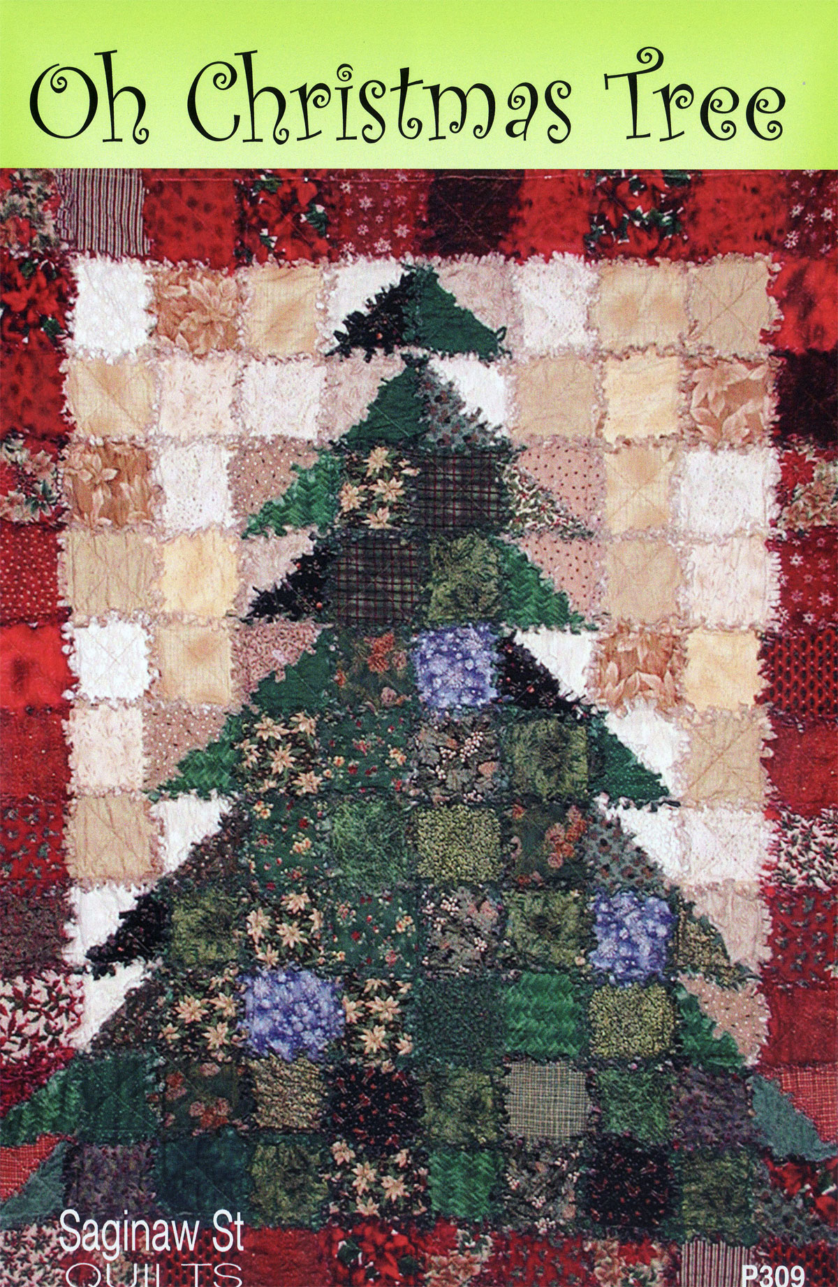 oh christmas tree quilt sewing pattern from saginaw st quilts