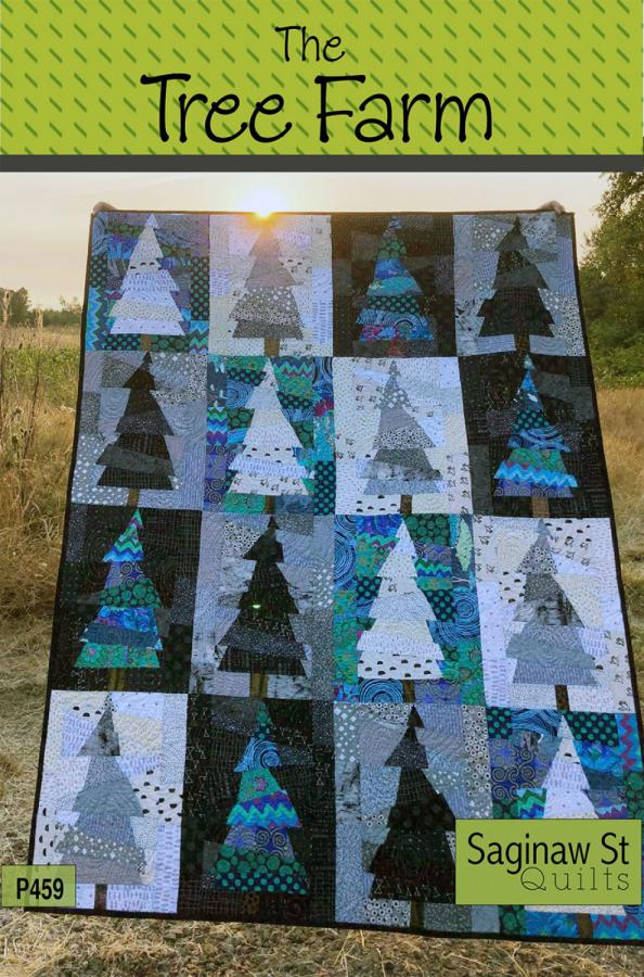 Tree Farm quilt sewing pattern from Saginaw St Quilts