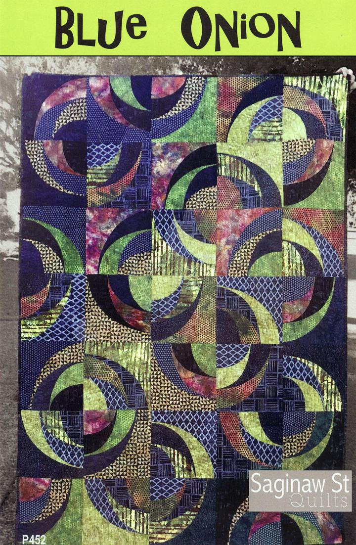 Blue Onion quilt sewing pattern from Saginaw St Quilts