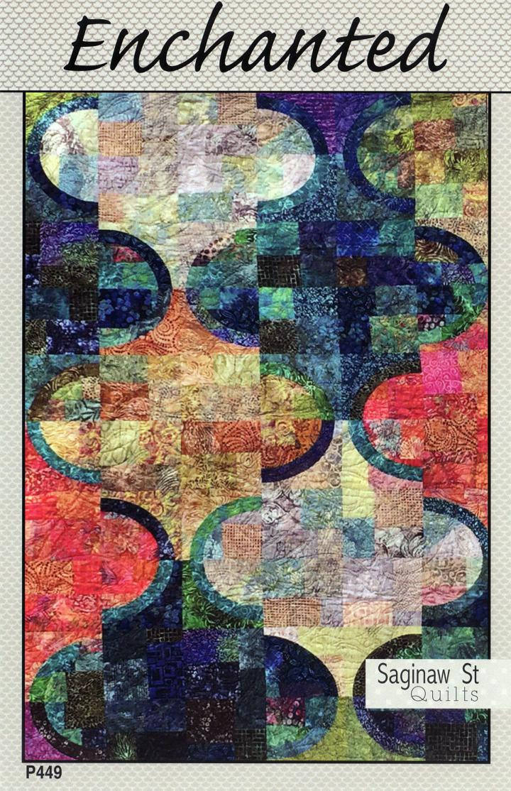 Enchanted quilt sewing pattern from Saginaw St Quilts