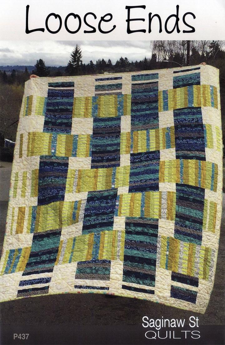 Loose Ends quilt sewing pattern from Saginaw St Quilts