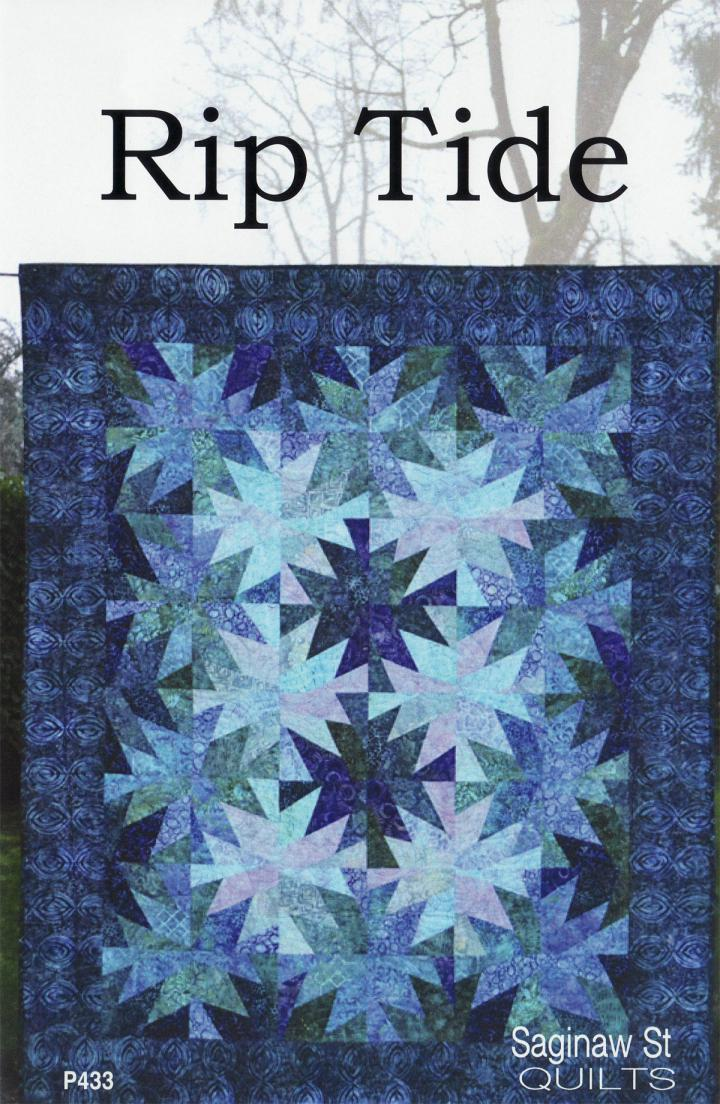 Rip Tide quilt sewing pattern from Saginaw St Quilts