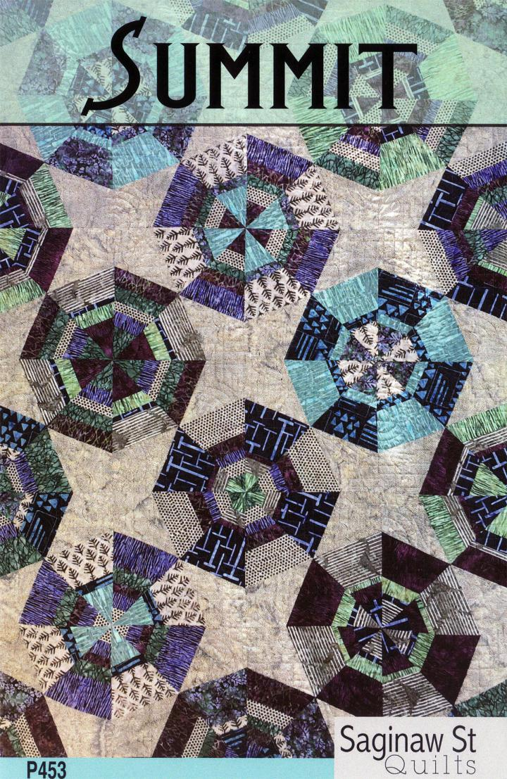 Summit quilt sewing pattern from Saginaw St Quilts