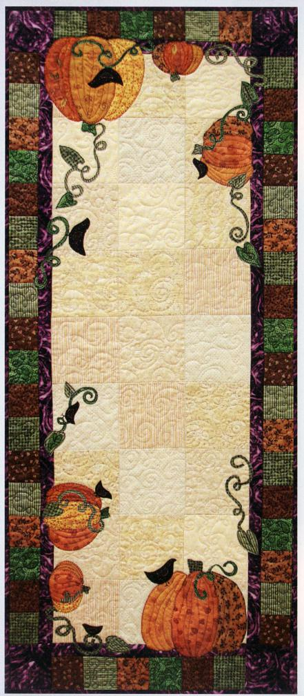 The Great Pumpkin Harvest sewing pattern from Saginaw St Quilts