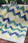 Zig quilt sewing pattern from Saginaw St Quilts