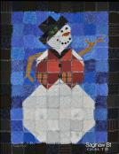 Frosty the Rag Edge Snowman quilt sewing pattern from Saginaw St Quilts 2