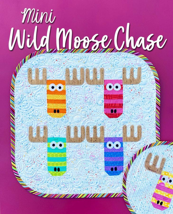 Mini Wild Moose Chase quilt sewing pattern from Sassafras Lane Designs