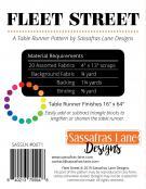 Fleet Street Table Runner sewing pattern from Sassafras Lane Designs 1