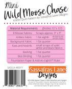 Mini Wild Moose Chase quilt sewing pattern from Sassafras Lane Designs 1