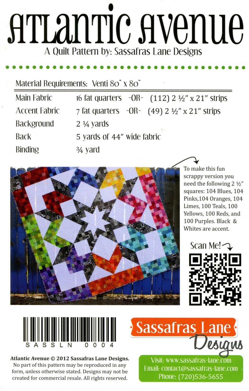 Atlantic-Aveune-quilt-sewing-pattern-Sassafras-Lane-Designs-back