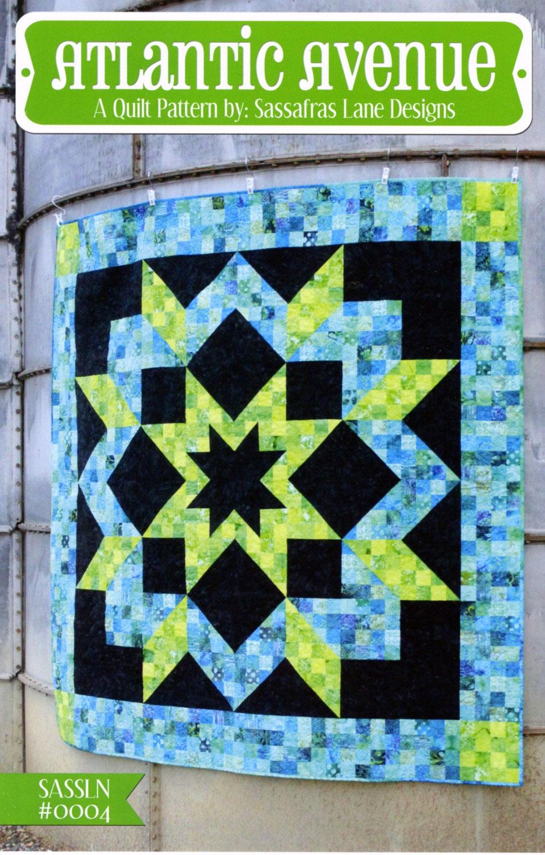 Atlantic-Aveune-quilt-sewing-pattern-Sassafras-Lane-Designs-front