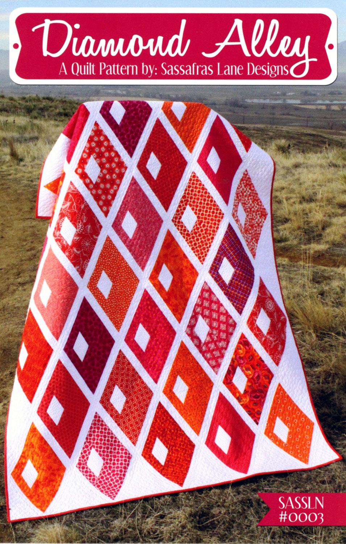 Diamond-Alley-quilt-sewing-pattern-Sassafras-Lane-Designs-front