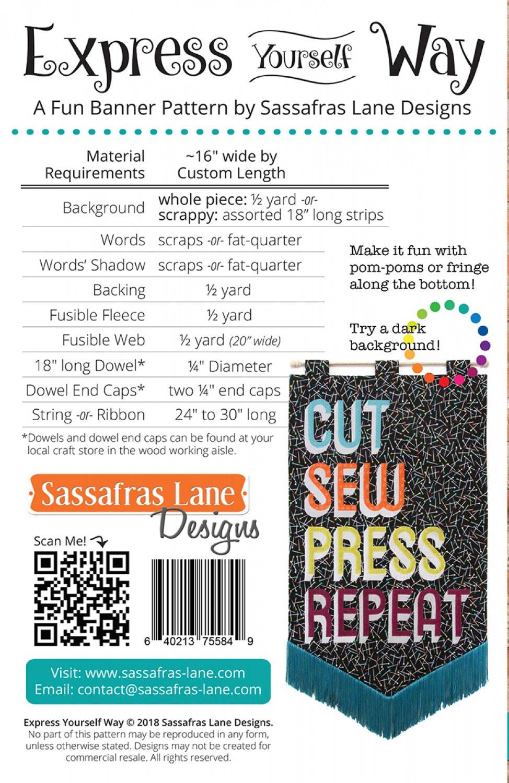 Express-Yourself-Way-sewing-pattern-Sassafras-Lane-Designs-back