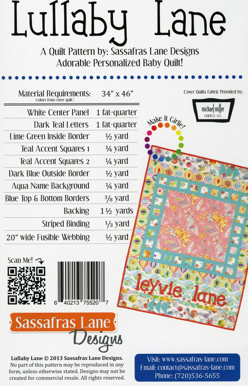 Lullaby-Lane-quilt-sewing-pattern-Sassafras-Lane-Designs-back