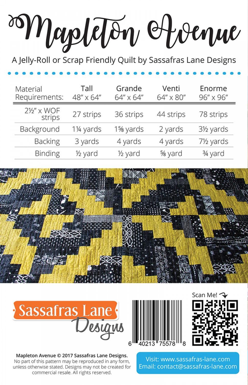 Mapleton-Avenue-quilt-sewing-pattern-Sassafras-Lane-Designs-back