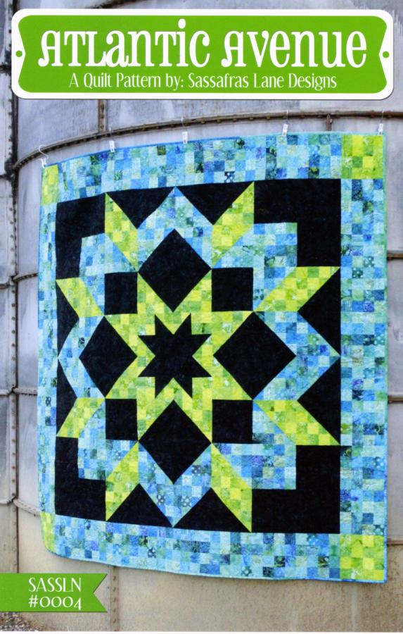 Atlantic Avenue quilt sewing pattern from Sassafras Lane Designs